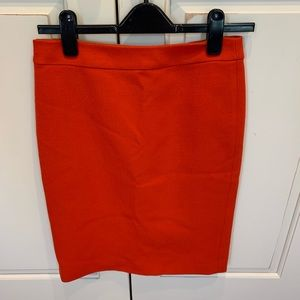 J. Crew No. 2 Pencil Skirt in Red Wool sz 2